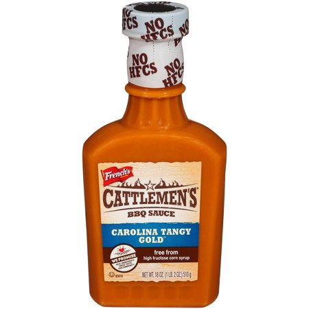 (3 Pack) Cattlemen's Carolina Tangy Gold BBQ Sauce, 18 oz ()