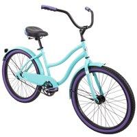 "Huffy 24"" Cranbrook Women's Comfort Cruiser Bike, Tropic Blue"
