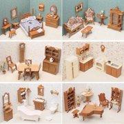 Greenleaf 6 Room Furniture Kit Set-1 Inch Scale