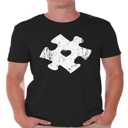Awkward Styles Men's Puzzle Graphic T-shirt Tops for Autism Awareness (Autism Shirts For Sale)