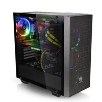 Thermaltake Core G21 Tempered Glass ATX Gaming Desktop Computer Chassis - CA-1I4-00M1WN-00