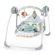 Best Baby Swings - Bright Starts Whimsical Wild Portable Compact Automatic Swing Review