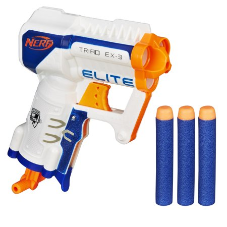 Nerf N-Strike Elite Triad EX-3 Blaster with 3 Nerf Elite Darts