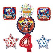 DC Super Hero Girls 4th Birthday Party Supplies And Balloon Decorations