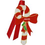 Gloria Duchin Enamel Candy Cane Ornament, Boy