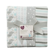 Parent's Choice Receiving Blankets, Clouds, 4 Pack