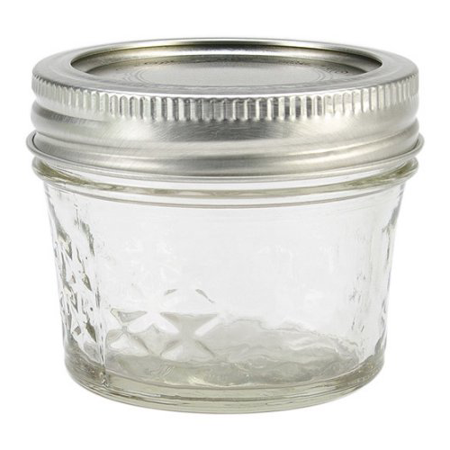 Ball Quilted Crystal Mason Jar w/Lid & Band, Regular Mouth, 4 Ounces, 12 Count](Buy Mason Jars In Bulk)