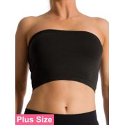 6b805e29f91 Plus Size Seamless Strapless Bandeau Bra Tube Top Sports Bra Yoga XL 1X 2X  3X 4X