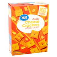 (3 Pack) Great Value Cheddar Cheese Crackers, 12.4 oz