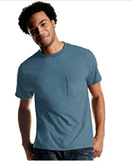 Big Men's FreshIQ Tagless ComfortSoft Dyed Pocket Tee 4-Pack, Size 2XL