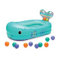 Infantino Fish Bubble Ball Inflatable Bathtub, Teal