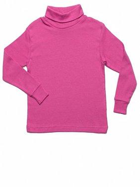 Leveret Solid Turtleneck 100% Cotton (5 Toddler, Green)