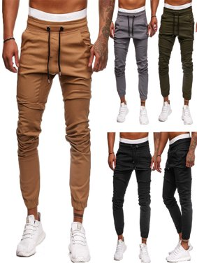 Mens Casual Skinny Jogging Bottoms Slim Fit Joggers Tracksuit Pants Gym Sweats