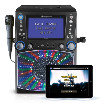 Singing Machine STVG785BTBK Bluetooth Karaoke System with 7