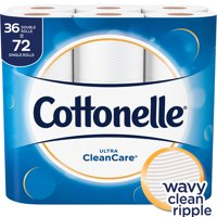 Cottonelle Ultra Clean Care Toilet Paper, 36 Double Rolls