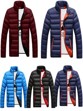 Men's Packable Duck Down Jacket Stand Collar Ultralight Outerwear Coat Puffer