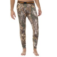 Mossy Oak and Realtree Mens Ultimate Cold Gear Fitted Baselayer Bottom