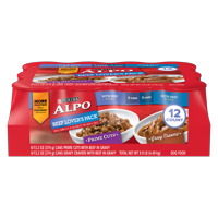 Purina ALPO Beef Lover's Adult Wet Dog Food Variety Pack - (12) 13.2 oz. Cans