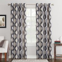 Sun Zero Deltona Ogee Watercolor Energy Efficient Grommet Curtain Panel