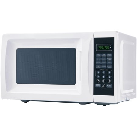 Mainstays 0.7 Cu. Ft. 700W White Microwave with 10 Power (Best Countertop Microwave With Trim Kit)