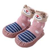 3a9107ecad3 Unisex Baby Toddler Animals Print Cotton Socks Slipper Anti-Slip Crib Shoes  (12