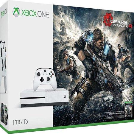 3d Bundle - Microsoft Xbox One S Gears of War 4 1 TB Bundle, White, 23400068