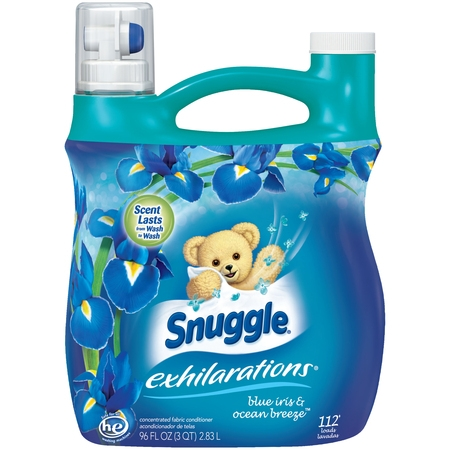 Fabric Softener (Snuggle Exhilarations Liquid Fabric Softener, Blue Iris & Ocean Breeze, 96 Ounce, 112 Loads )
