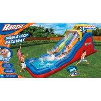 Banzai Double Drop Raceway (Inflatable Racing Water Slide and Splash Pool)