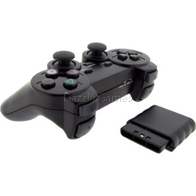 - Wireless 2.4GHz Dual Shock Game Controller for Sony PS2 Playstation 2