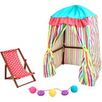 "My life as 3 piece beach cabana play set, for 18"" dolls"