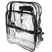 Large Size Clear Backpack Book Bag Transparent School Sports Stadium  Concert Arena TSA Security Shoulder Travel 852f2d0cdaf56