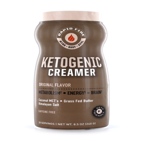 Rapid Fire Ketogenic Creamer with MCT Oil, 8.5 Oz, 20 Servings - Walmart.com