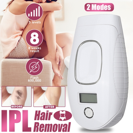 Professional Painless Laser Hair Removal Instrument 5/7 levels Mini Permanent Household Remover Device Shaver IPL Quartz Bulb Machine Photonic Freezing For Face Body Top Women &