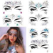 Spencer 1PC Rhinestone Temporary Face Tattoos Crystal Tears Gem Adhesive Glitter  Body Stickers