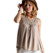 Women Hot Selling Pleats Designed Shirts and Blouse Beige