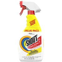Shout Triple-Acting Stain Remover Spray, 32 Fluid Ounces, 2 count