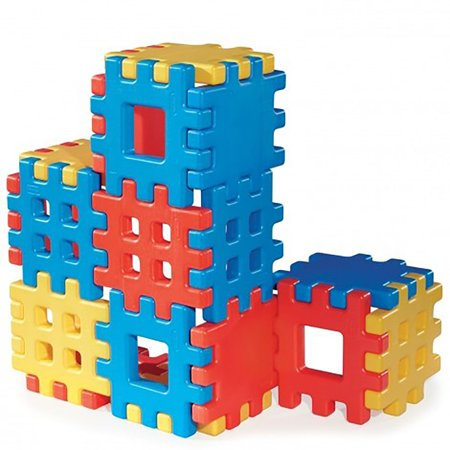 Little Tikes Big Waffle 18 Piece Toddler Kid Construction Building Block