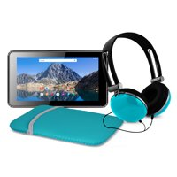"""Refurbished Ematic 7"""" 16GB Tablet with Android 7.1 (Nougat) + Sleeve and Headphones (EGQ373TL)"""