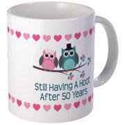 fced1741424 CafePress - 50Th Anniversary Owl Gift Mugs - Unique Coffee Mug, Coffee Cup  CafePress