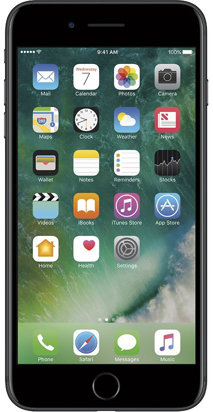 Apple iPhone 7 Plus, GSM Unlocked 4G LTE- Black, 32GB (Certified Refurbished)