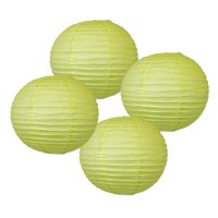 """20"""" Pistachio Green Chinese Japanese Paper Lanterns (Set of 4) - Decorative Round Chinese/Japanese Paper Lanterns for Birthday Parties, Weddings, Baby Showers, and Life Celebrations!"""