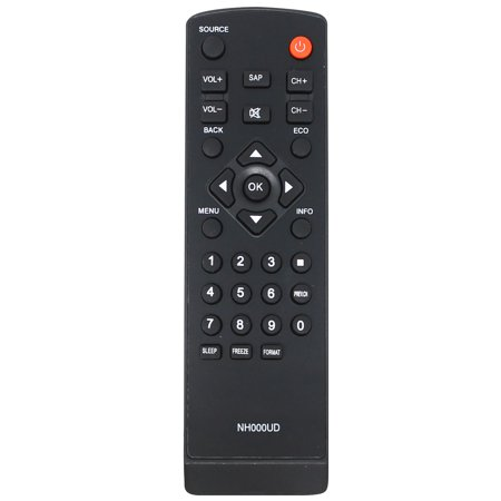 Replacement HDTV Remote Control for LC320EM2, LC320EM1F, LC320EM2F, LC320SL1, LC320SLX, LC320EMX, LC320EMXF, LC195EMX, LC320EM1, LC195SLX - Compatible with NH000UD Emerson & Sylvania TV Remote Control ()