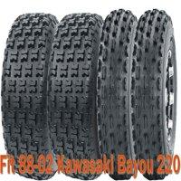 Full Set Sport ATV tires 21x8-9 & 22x10-10 for 88-02 Kawasaki Bayou 220