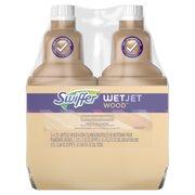Swiffer WetJet Wood Floor Cleaner Solution Refill (2 count, 42.2 fl oz each)