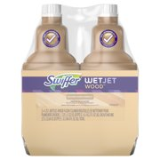 Swiffer WetJet Wood Floor Cleaner Solution Refill (2 count, 42.2 fl oz each)