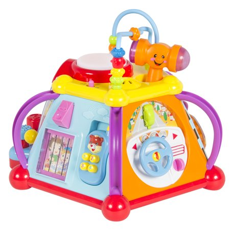 Best Choice Products Kids Toddlers Musical Activity Cube Play Toy W 15 Functions Lights And Sounds Multicolor Walmart Com