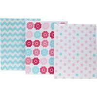 Tickled Pink Crib Sheet - Set of 3 by NoJo