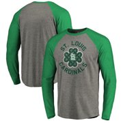 764b0b5e7 St. Louis Cardinals Majestic 2019 St. Patrick's Day Luck Tradition Raglan  Long Sleeve T