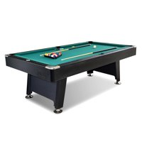 Lancaster 90 Inch Arcade Game Room Billiard Pool Table with Balls and Cue, Green