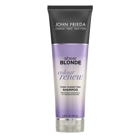 John Frieda Sheer Blonde Colour Renew Tone Correcting Shampoo 8.45 (Shampoo And Conditioner For Blonde Highlighted Hair)